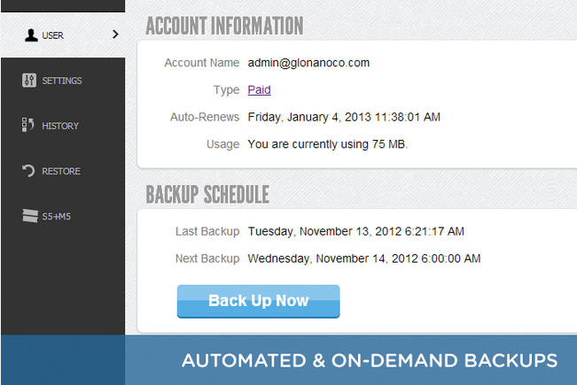 Automated or On-Demand Backups