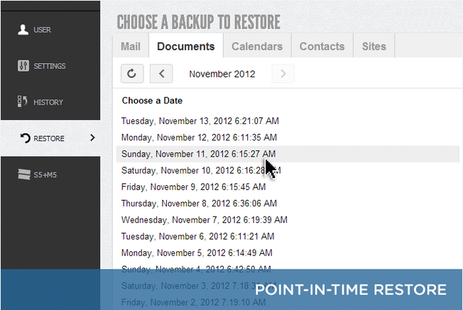 Point-in-Time Restore